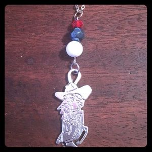 Red Blue White Colonel Necklace Ole Miss Rebels